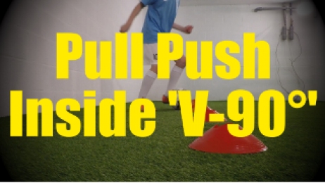 Pull Push Inside 'V-90°' - Cones Dribbling Drills for U10-U11