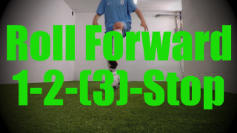 Roll Forward 1-2-(3)-Stop - Dynamic Ball Mastery Drills for U8-U9