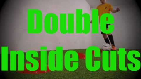 Double Inside Cuts - Cones Dribbling Drills for U8-U9