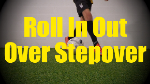 Roll In Out Over Stepover - Static Ball Control Drills for U10-U11