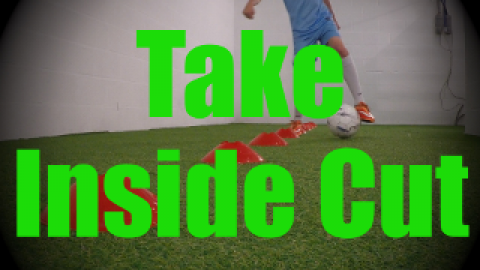 Take Inside Cut - Cones Dribbling Drills for U8-U9