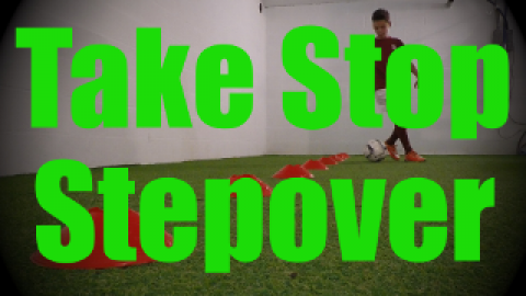 Take Stop Stepover- Cones Dribbling Drills for U8-U9
