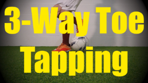 3-Way Toe Tapping - Static Ball Control Drills for U10-U11