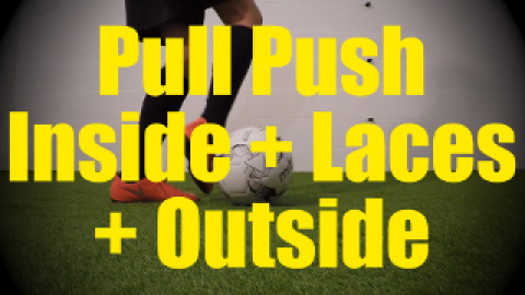 Pull Push Laces + Inside + Outside - Static Ball Control Drills for U10-U11
