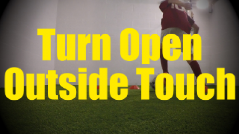 Turn Open Outside Touch - Wall Work Drills for U10-U11