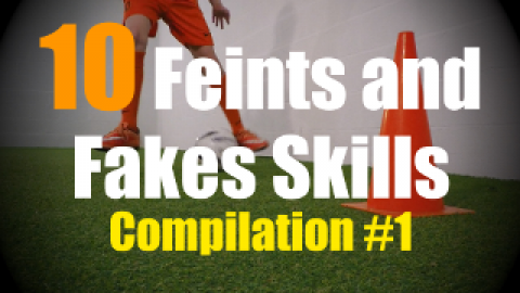 10 Feints and Fakes Moves to improve your 1v1 Soccer Skills - Compilation #1