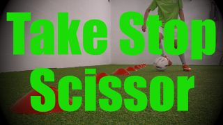 Take Stop Scissor - Cones Dribbling Drills for U8-U9
