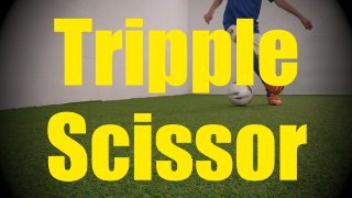 Triple Scissor - Dynamic Ball Mastery Skills - Soccer (Football) Coerver Training for U10-U11