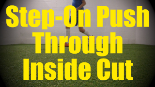 Step-On Push Trough Inside Cut - Static Ball Control Drills for U10-U11