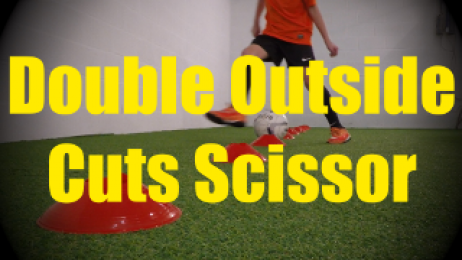 Double Outside Cuts Scissor - Cones Dribbling Drills for U10-U11