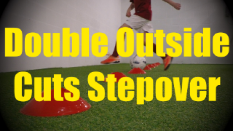 Double Outside Cuts Stepover - Cones Dribbling Drills for U10-U11