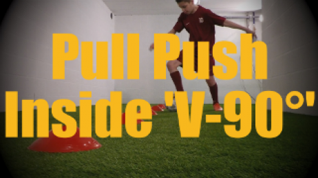 Pull Push Inside 'V-90°' - Cones Dribbling Drills for U12-U13