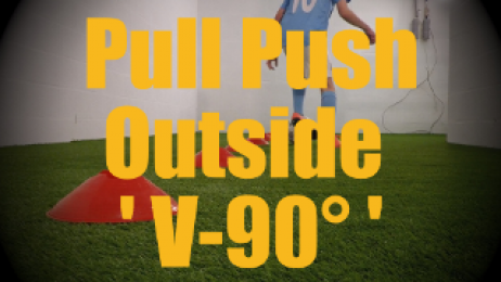 Pull Push Outside 'V-90°' - Cones Dribbling Drills for U12-U13