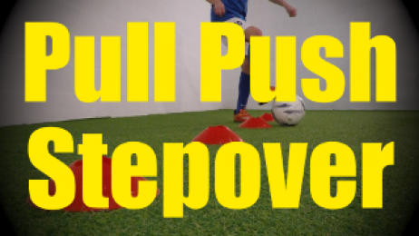 Push Pull Stepover - Cones Dribbling Drills for U10-U11