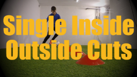 Single Inside Outside Cuts - Cones Dribbling Drills for U12-U13