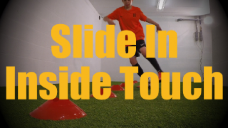 Slide In Inside Touch - Cones Dribbling Drills for U12-U13