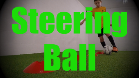 Steering Ball - Cones Dribbling Drills for U8-U9