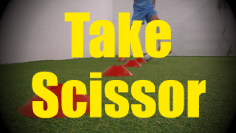 Take Scissor - Cones Dribbling Drills for U10-U11