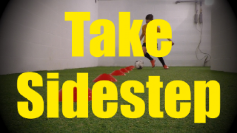 Take Sidestep - Cones Dribbling Drills for U10-U11