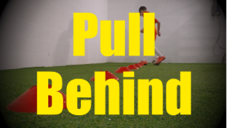 Pull Behind - Cones Dribbling Drills for U10-U11