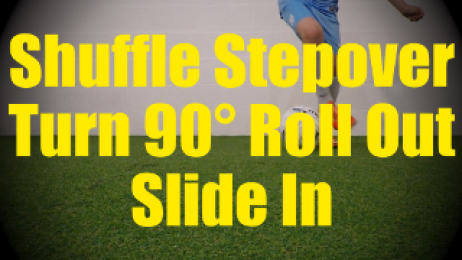 Shuffle Stepover Turn 90° Roll Out Slide In - Fast Footwork Drills for U10-U11