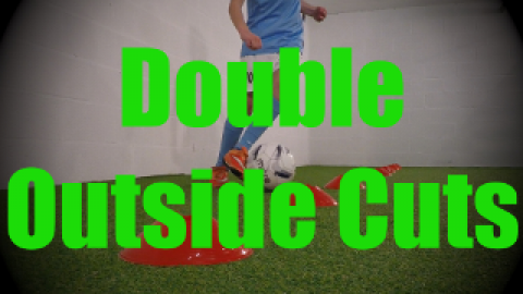 Double Outside Cuts - Cones Dribbling Drills for U8-U9