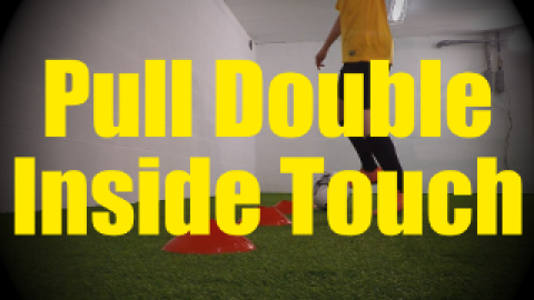 Pull Double Inside Touch - Cones Dribbling Drills for U10-U11