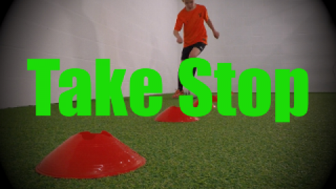 Take Stop - Cones Dribbling Drills for U8-U9