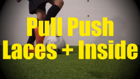 Pull Push Laces + Inside - Static Ball Control Drills for U10-U11