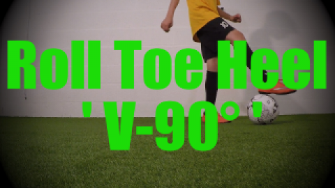 Roll Toe Heel 'V-90°' - Static Ball Control Drills for U8-U9