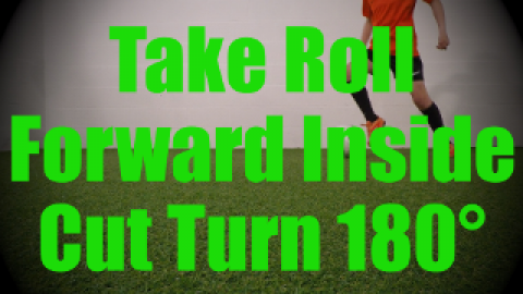 Take Roll Forward Inside Cut Turn 180 - Static Ball Control Drills for U8-U9