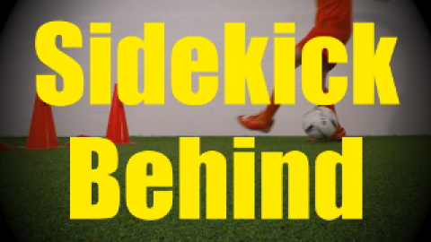 Sidekick Behind (Ronaldo Chop) - Crossing - 1v1 Moves for U10-U11